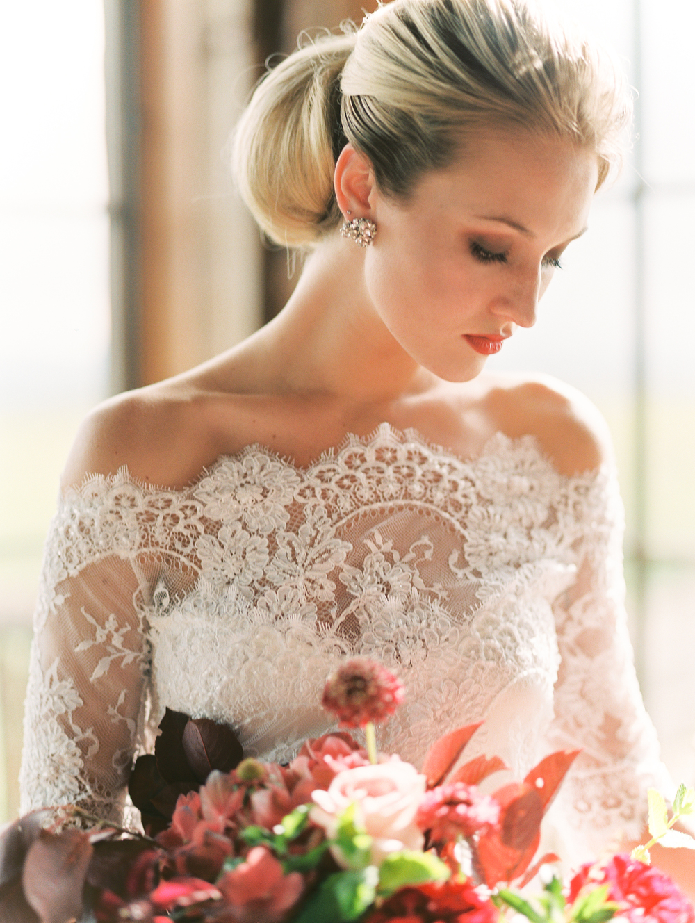 Ideal Wedding Hairstyles And Makeup Ideas For Blondes: Lillian West Designer Wedding Gowns