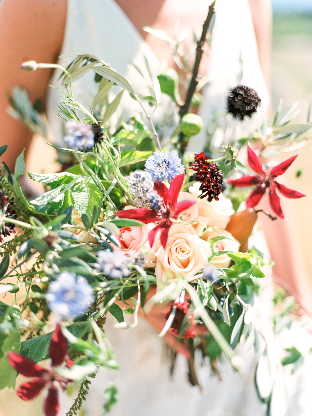 Bohemian Wedding Inspiration at Brush Creek Ranch | Wildflower bouquet by Hana Style Designs | Photography: Lisa O'Dwyer