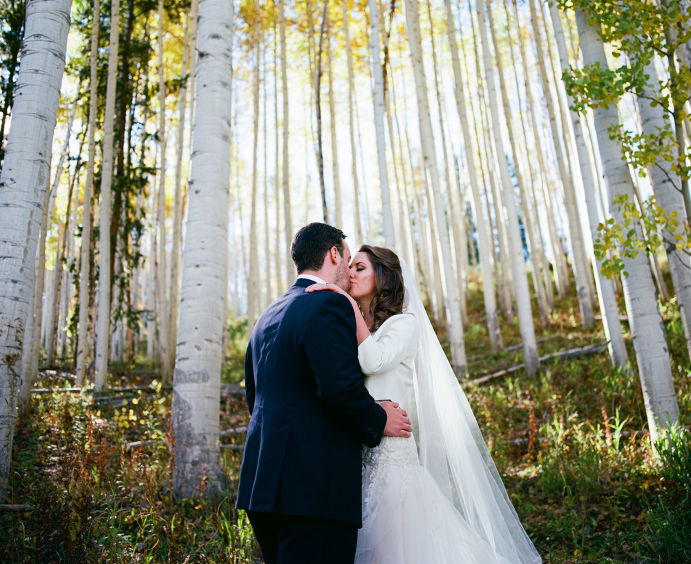 Kelly + Josh | Fall wedding at the Park Hyatt Beaver Creek | Dress by Reem Acra from Little White Dress | Ash Imagery