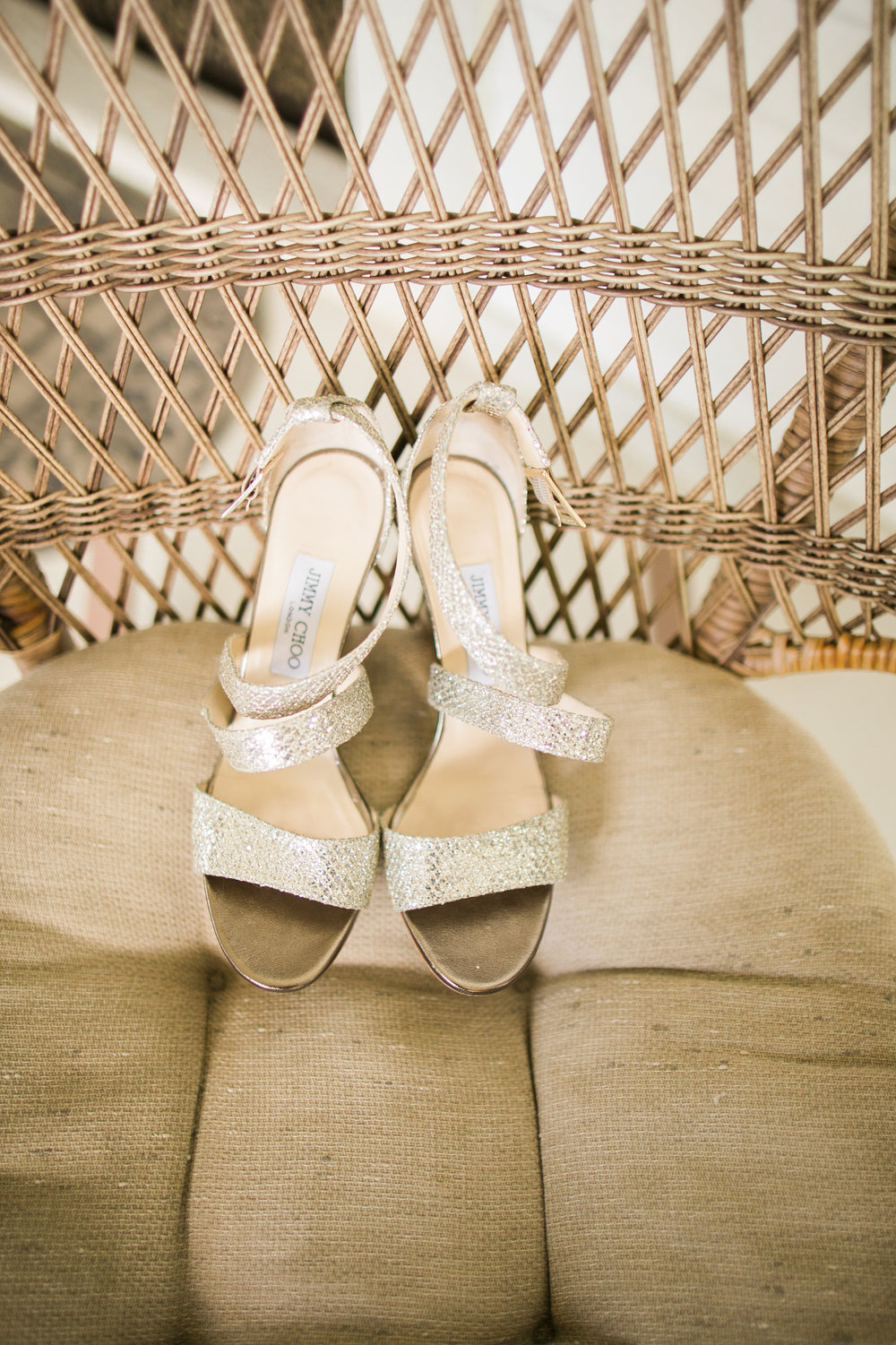 Jimmy Choo wedding sandals | Joanna Tano Photography