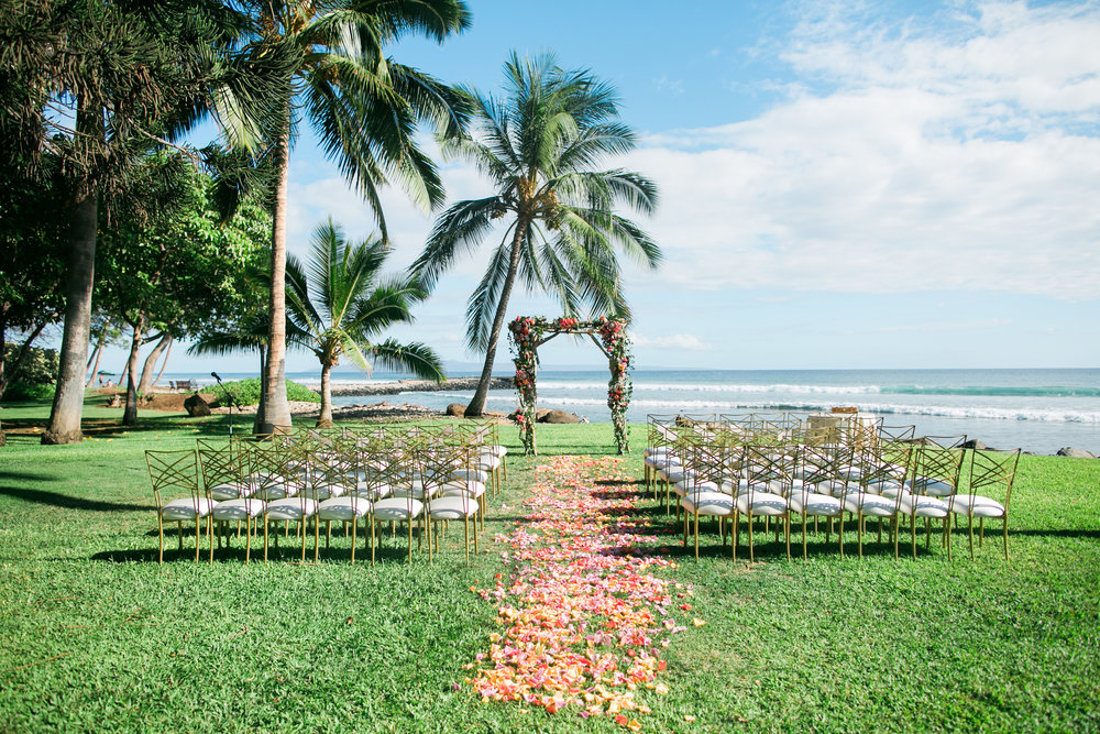 Maui, Hawaii beach wedding ceremony | Joanna Tano Photography