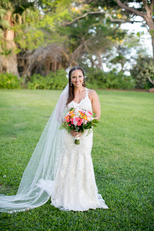 Megan eriks beachside hawaiian wedding little white dress claire pettibone devotion wedding gown from little white dress in denver joanna tano photography junglespirit Images
