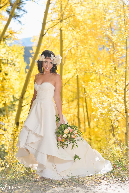 Tiffany justin 39 s autumn wedding in breckenridge little for Wedding dress shops in denver