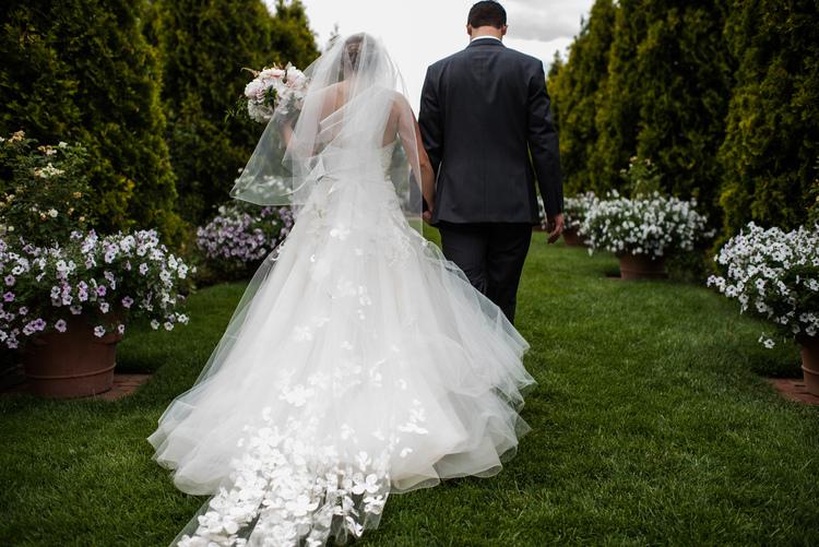 Megan matthews romantic garden wedding little white dress denver botanic garden wedding liancarlo gown from little white dress kara pearson photography junglespirit Images