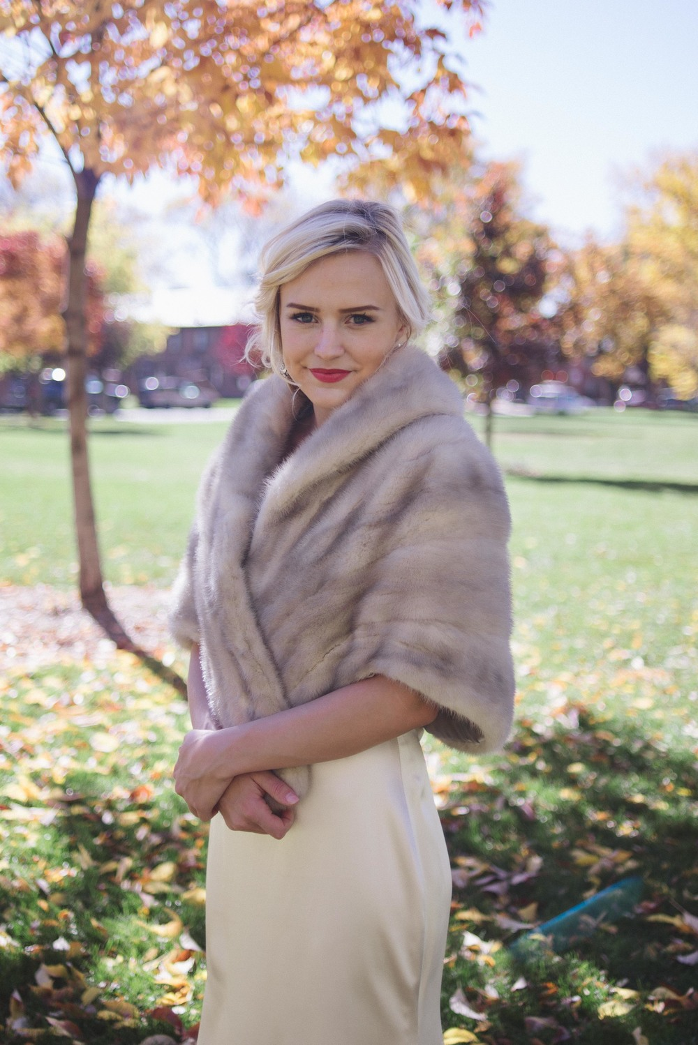 Fall Wedding | Vintage Bridal Fur from Little White Dress Bridal Shop