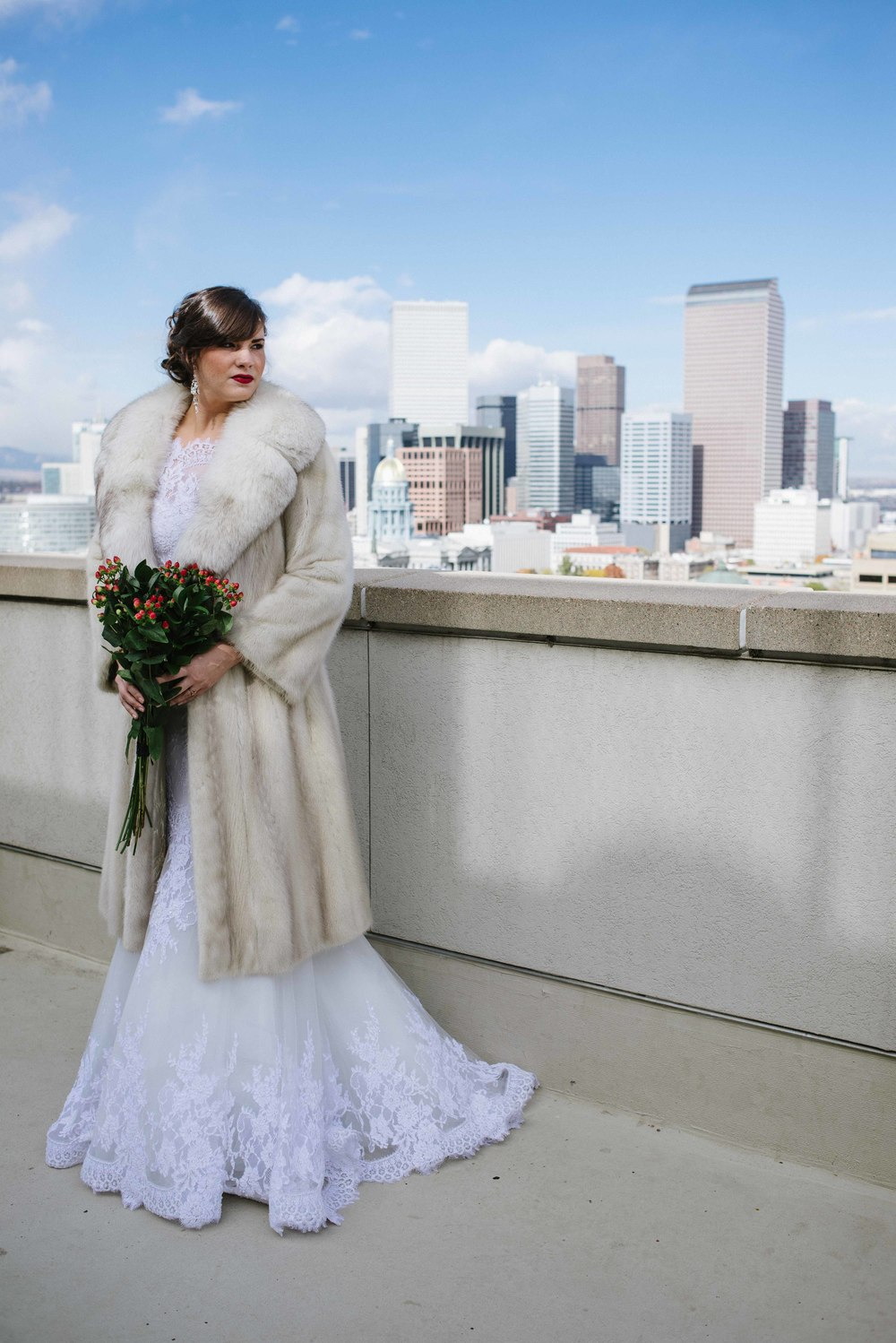 Winter Wedding | Vintage Bridal Fur from Little White Dress Bridal Shop
