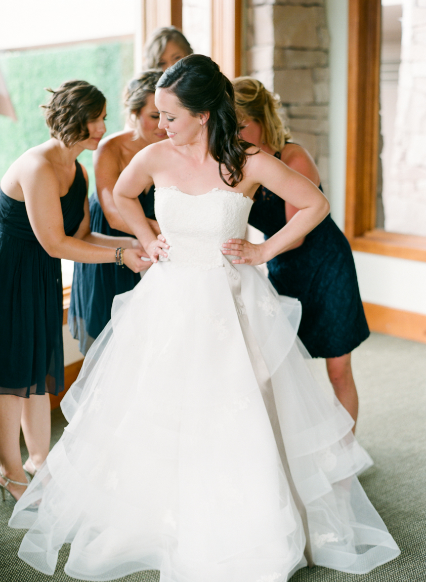 Scottish Inspired Colorado Wedding | Anne Barge 612 from Little White Dress in Denver | Connie Whitlock Photography