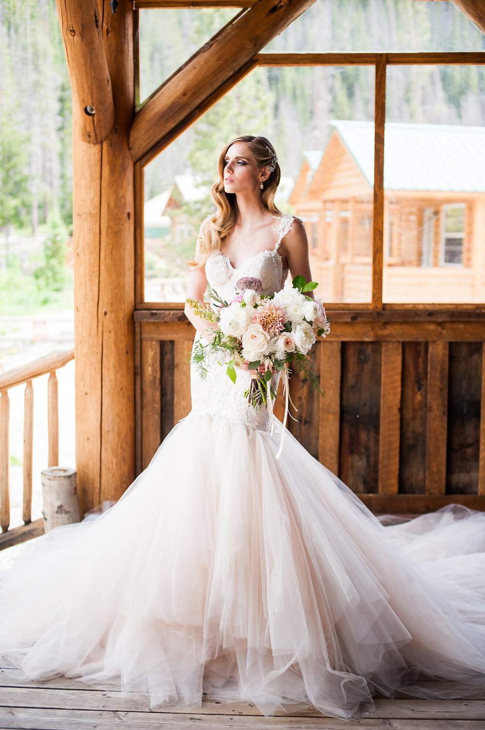 Luxurious Mountain Shoot at Piney River Ranch | Galia Lahav available at Little White Dress Bridal Shop in Denver | Candice Benjamin Photography