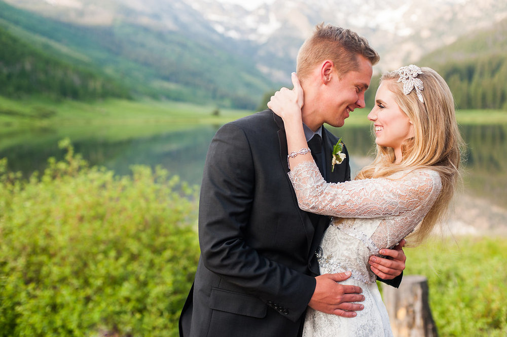 Luxurious Mountain Shoot at Piney River Ranch | Claire Pettibone available at Little White Dress Bridal Shop in Denver |  Candice Benjamin Photography