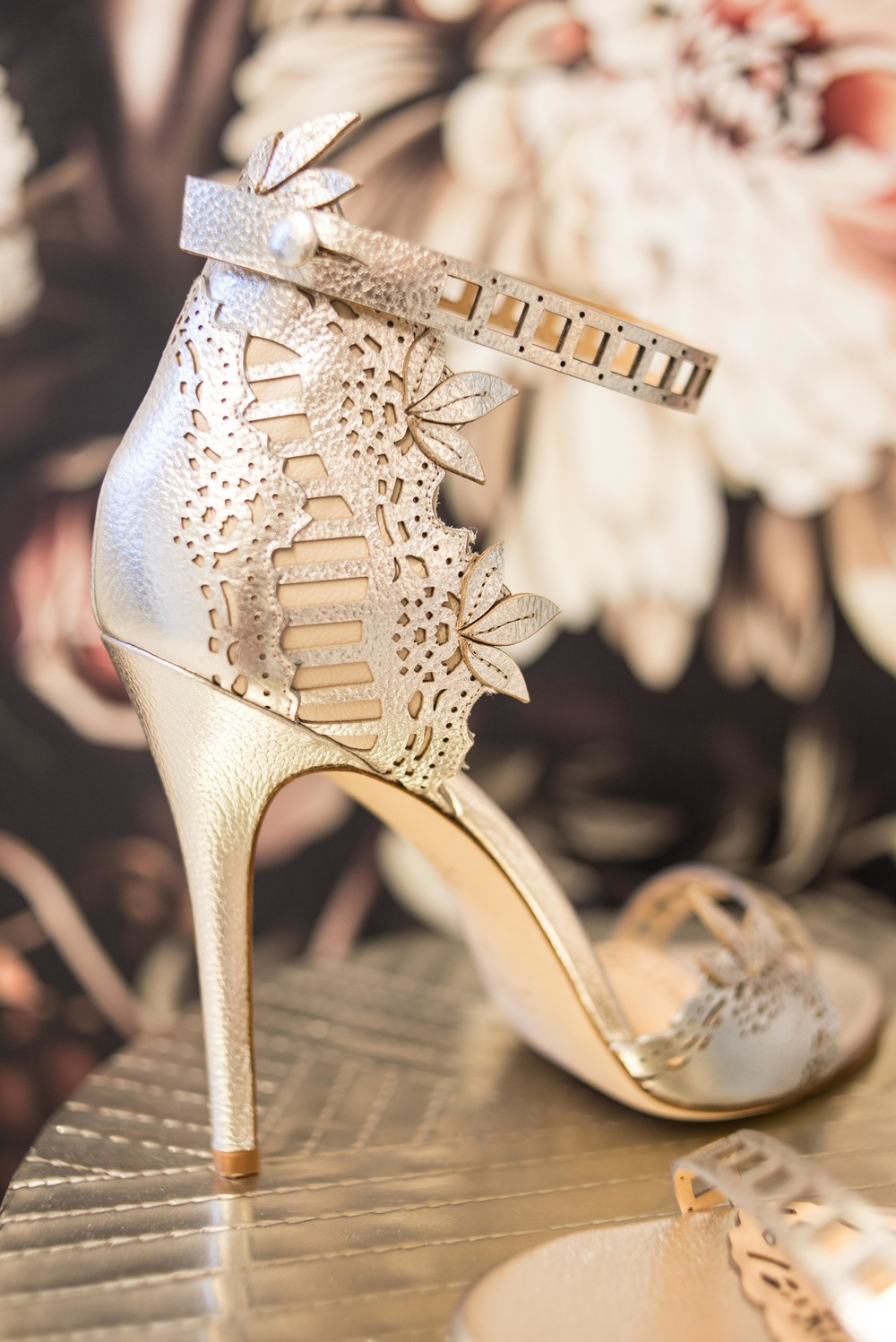 Marchesa shoes - Margaret | available in Colorado only at Little White Dress Bridal Shop, Denver