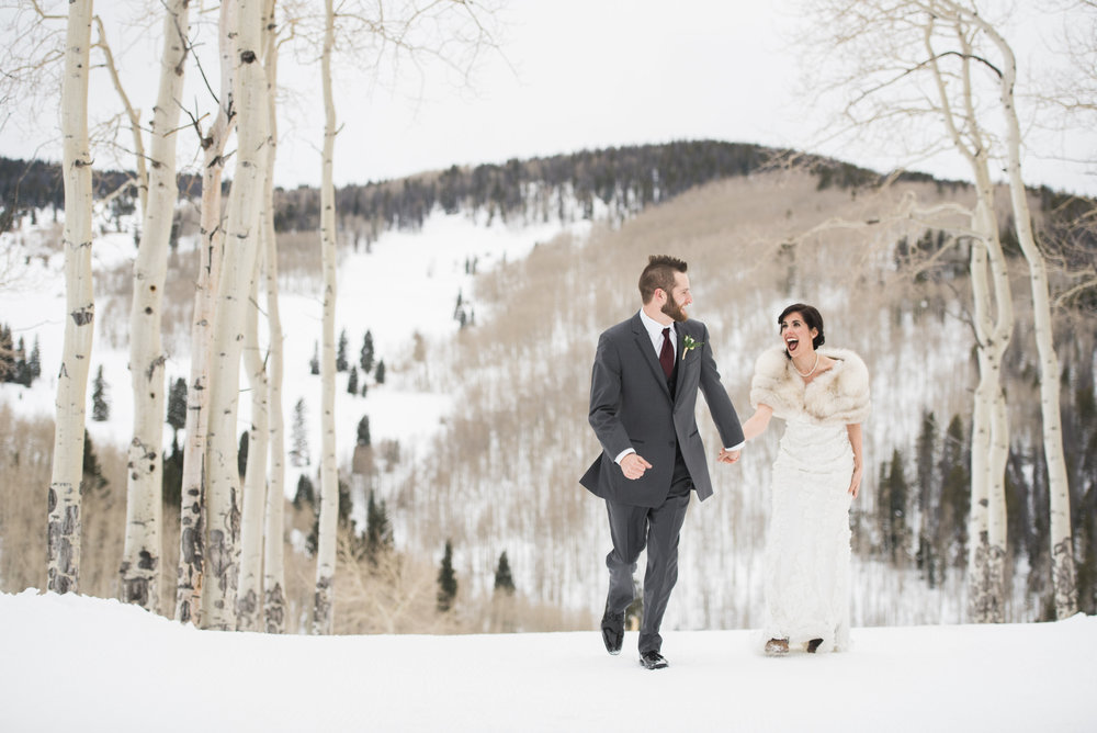 Beaver Creek Mountain wedding | Robert Bullock Bride gown and Love veil from Little White Dress Bridal Shop in Denver | Ali & Garrett Wedding Photographers