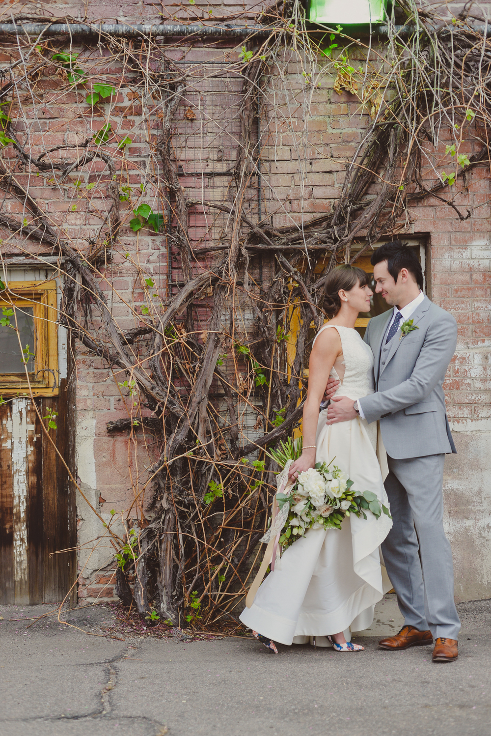 "Cara + Evan | Anne Barge ""Jenny"" available at Little White Dress Bridal shop in Denver 
