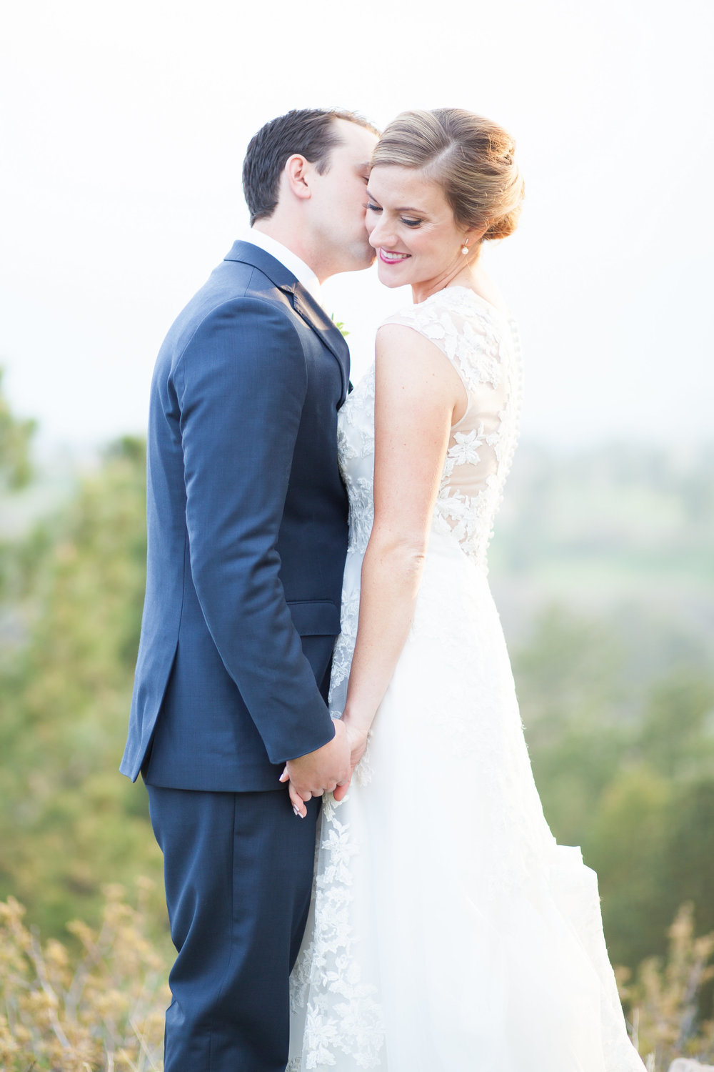 "Molly + Jake | Lis Simon ""Germaine"" available at  Little White Dress Bridal Shop  in Denver 