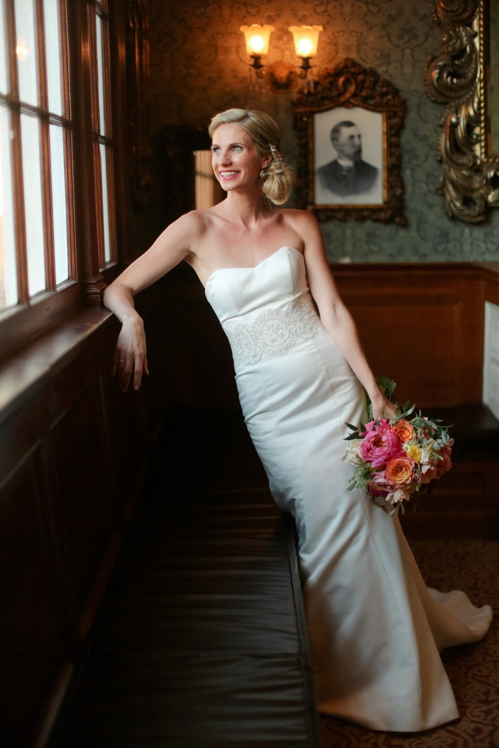 "Kellie + Rob | Della Terra Mountain Chateau | wedding gown ""Sarah"" by Robert Bullock Bride and belt ""Francine"" by ""Sassi Holford"" 