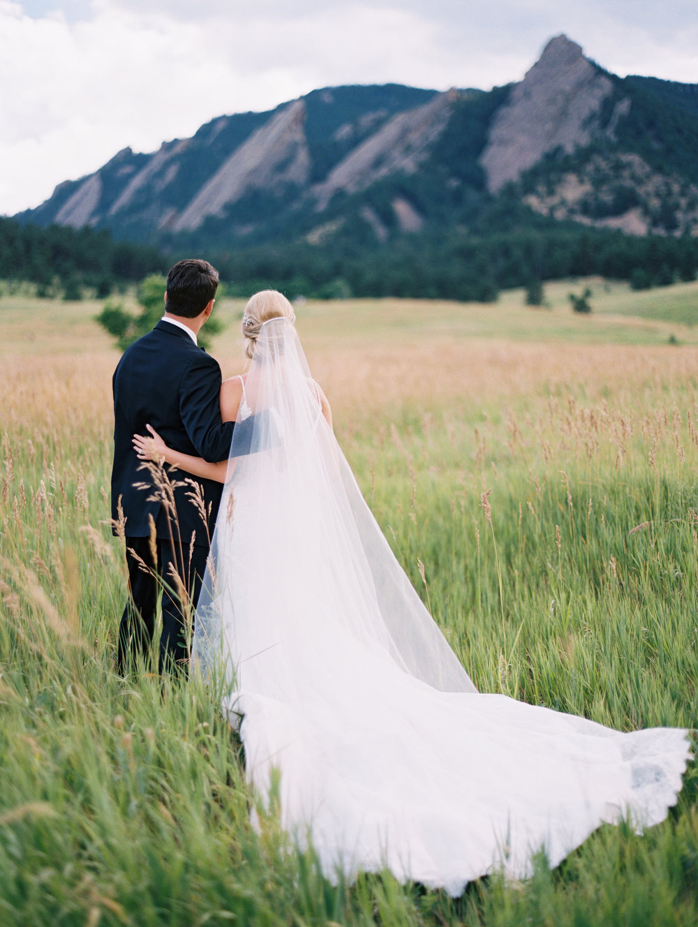 Bride Ellen | gown by Justin Alexander #9819 | headpiece by Twigs and Honey | veil by Love Veils and Accessories | all available at Little White Dress Bridal Shop in Denver | Cassidy Brooke Photography