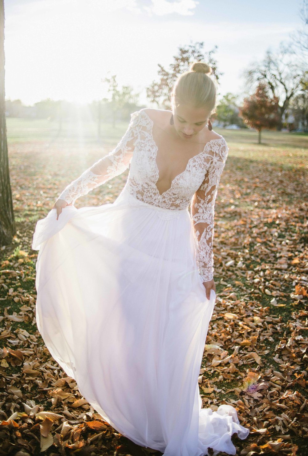 "Fall Wedding Inspiration | Anne Barge ""Leyland"" 
