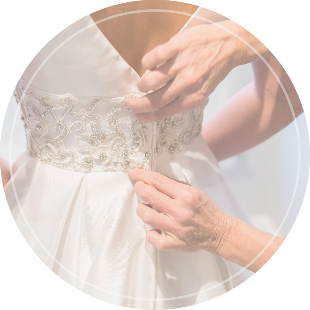 in-house seamstresses for bridal alterations
