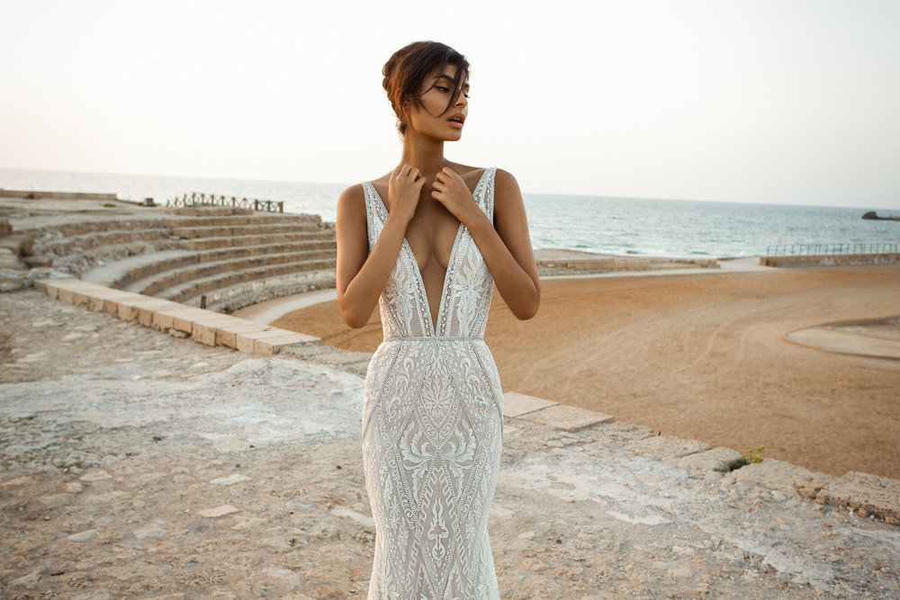 Geometric Beading A Super Sexy Deep V And Low Back That Undeniable Galia Lahav Allure This Dress Is The Ultimate Statement Of Confidence