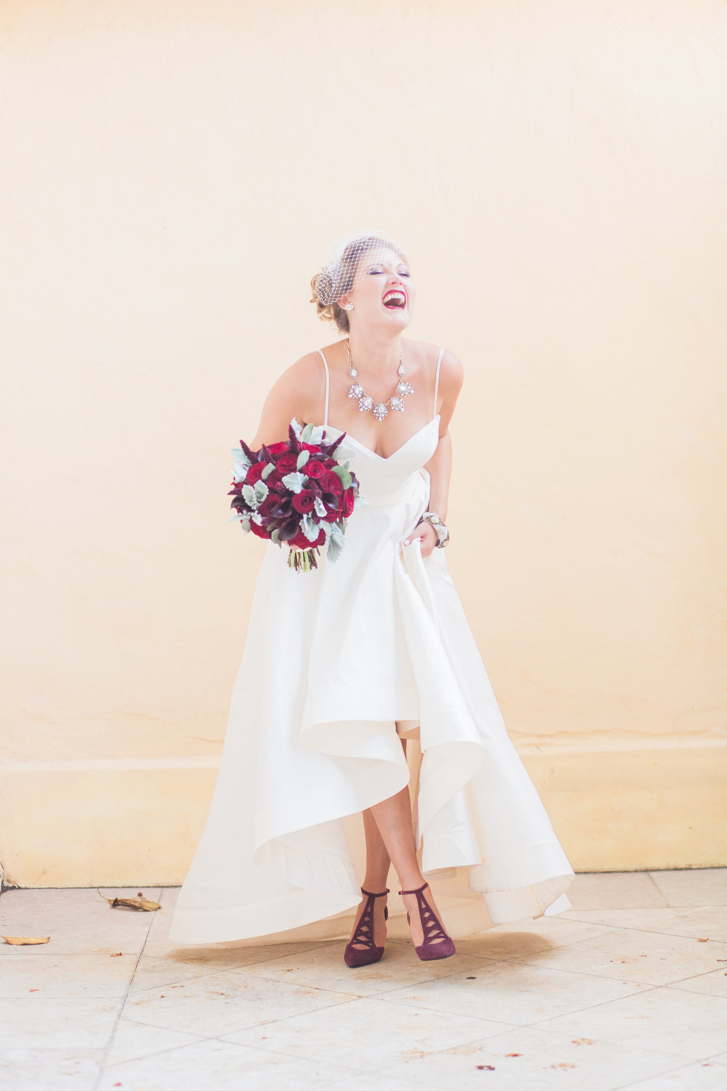 Erica Andrews Colorful Florida Wedding Little White Dress