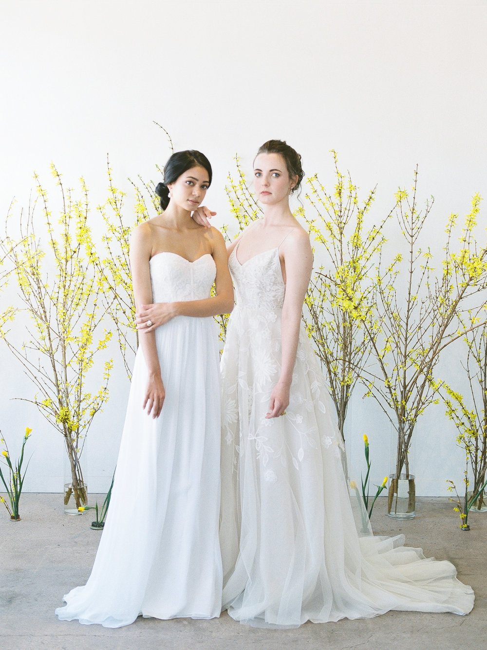 "Anne Barge ""Lily"" and Lela Rose ""The Altar"" wedding dresses 