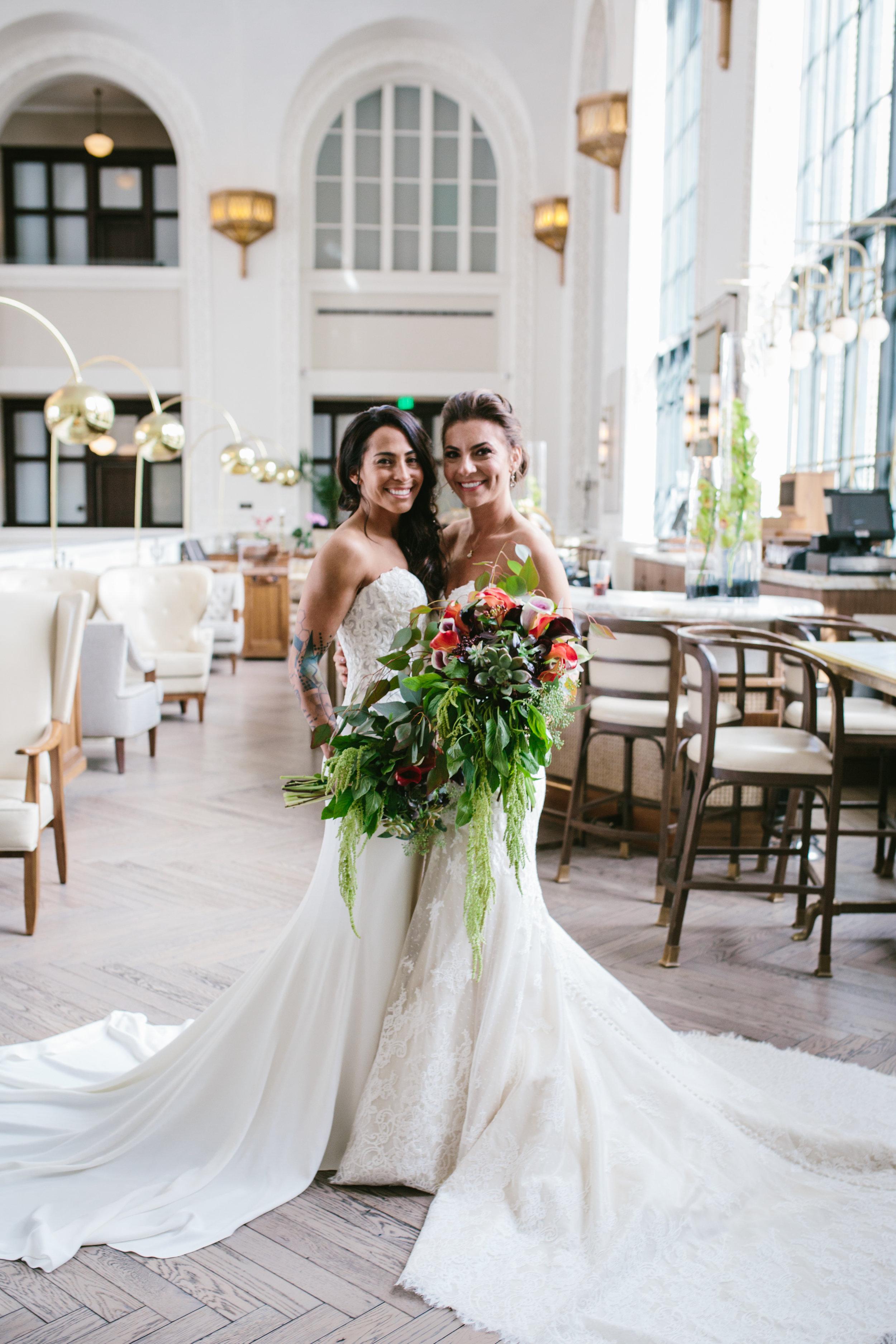 f4be51e65d6 Emily + Jovan s Chic Denver Wedding — Little White Dress Bridal Shop ...