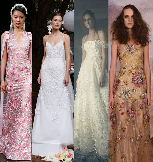 From left to right: Naeem Khan, Lela Rose, Sareh Nouri, Claire Pettibone.