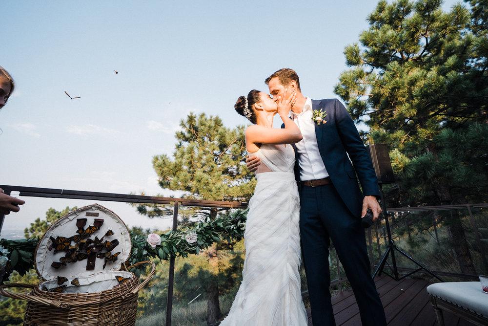 J Mendel Real Bride, J Mendel Boulder Bride, Boulder Bride Little White Dress, Maria Elena Denver, Real Wedding Boulder, CO