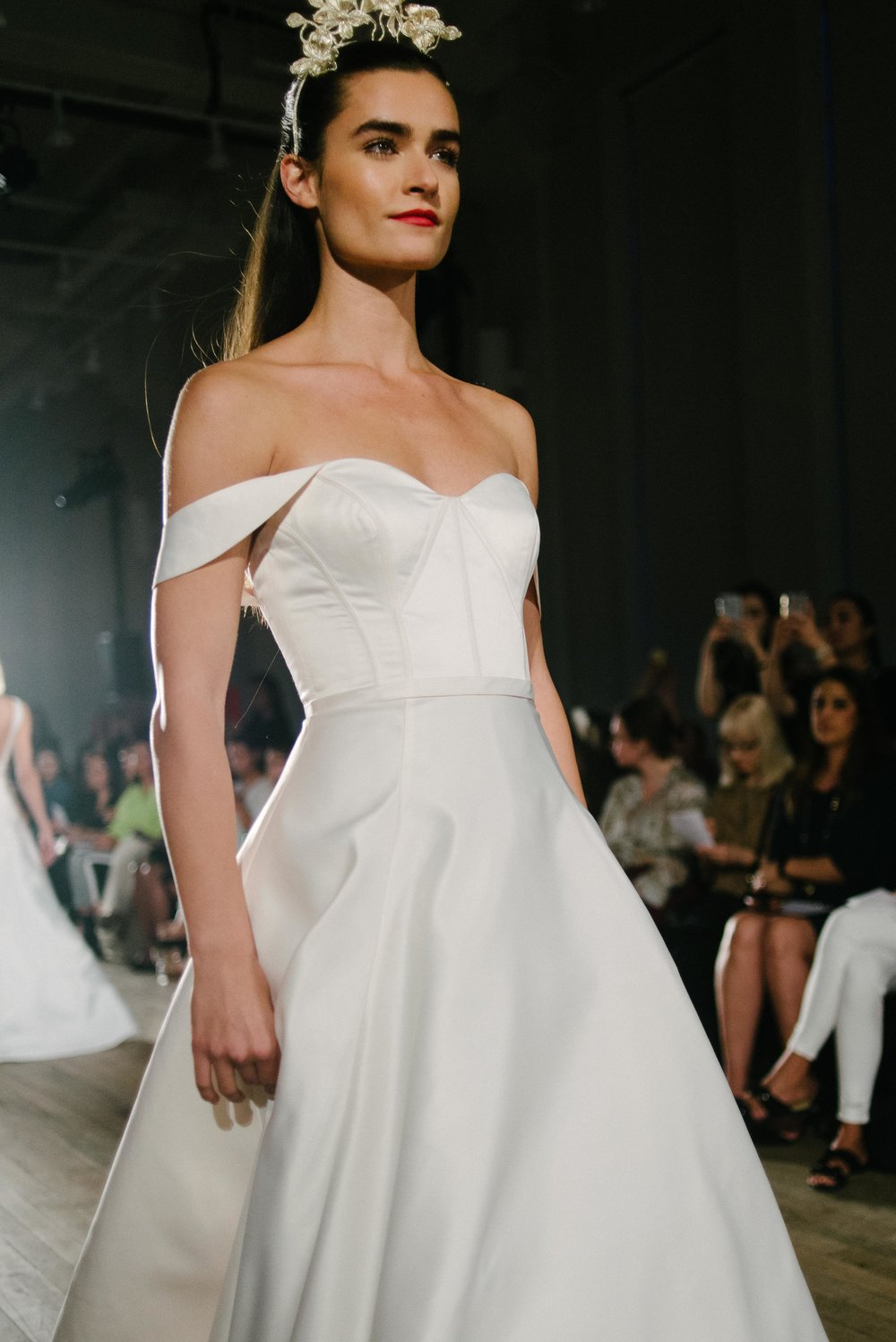 Bridal Fashion Week Trends 2019, New York Bridal Fashion Week, Bridal Market, Off The Shoulder