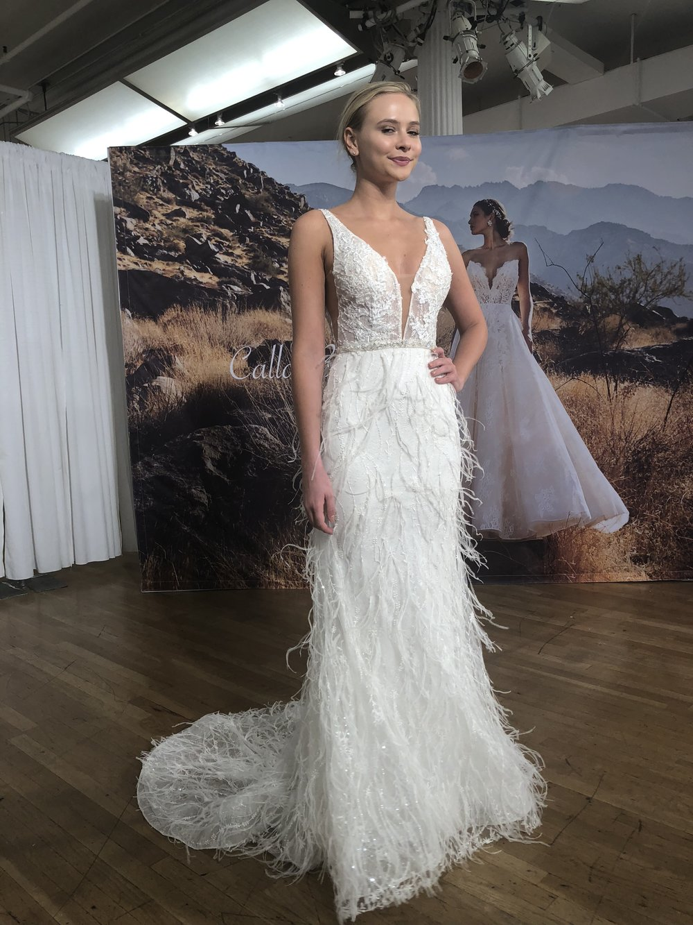 Bridal Fashion Week Trends 2019, New York Bridal Fashion Week, Bridal Market, Feathers