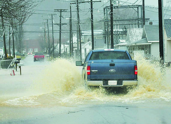 Flooding in Galax due to recent rains  Image Source: Galax Gazette