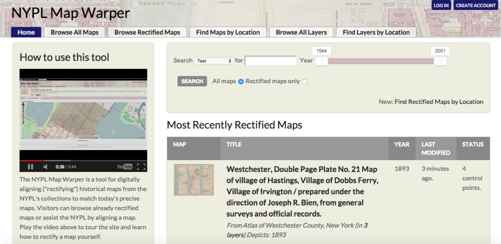 The  NYPL Map Warper  tool