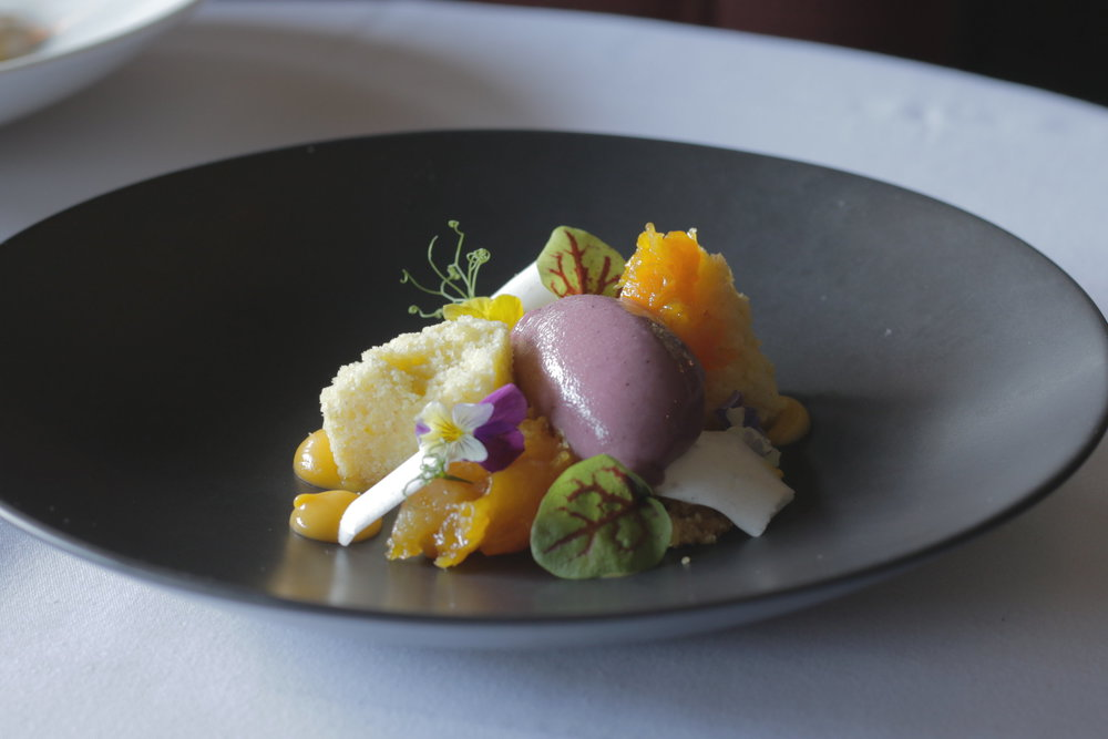 Photo of a plate of high-end sorbet
