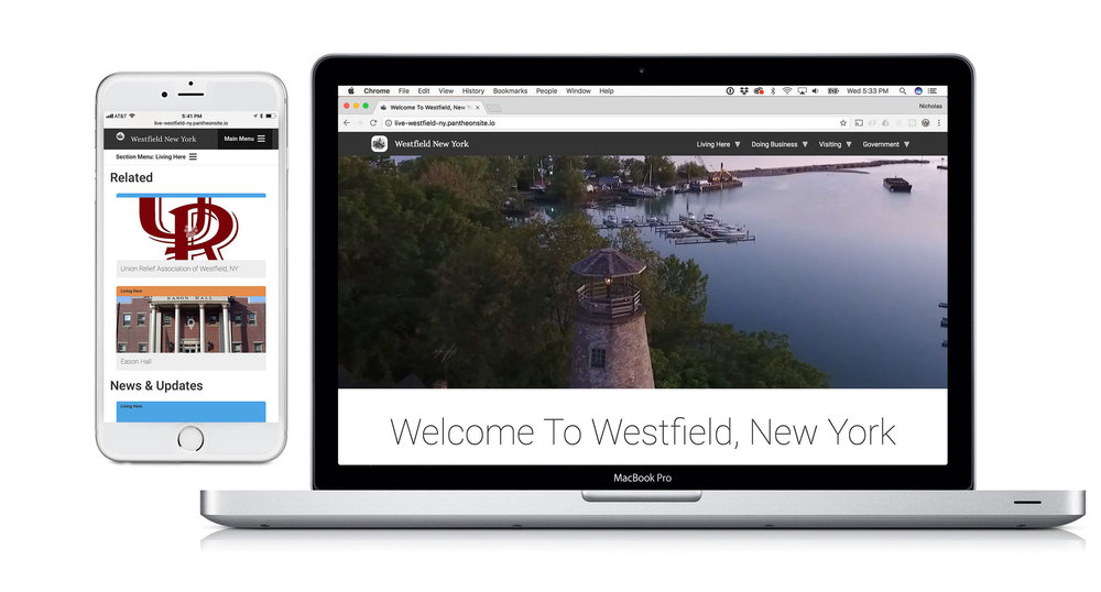 Screenshot of westfieldny.com