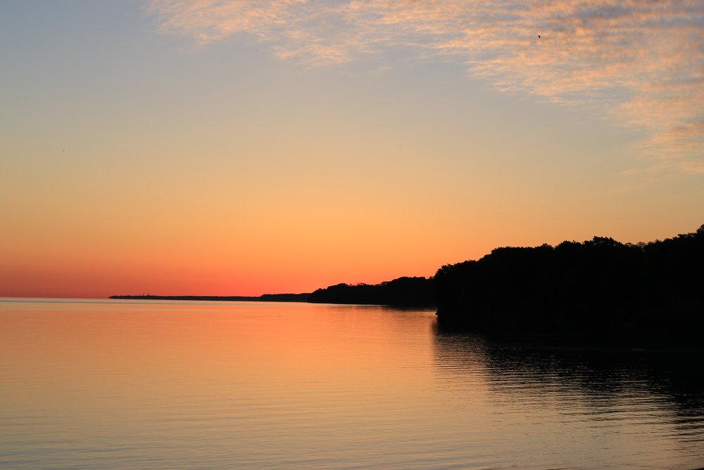Lake Erie shore in the morning