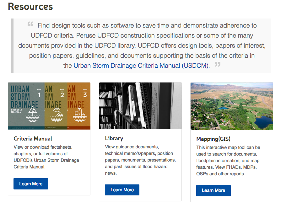 Screenshot of UDFCD.org