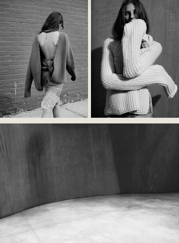 Editorial photos by Annemarieke van Drimmelen, posted earlier last week  on tumblr  . Richard Serra  New Sculpture  at The Gagosian, photo by me.