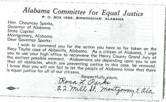 Mrs. Rosa Parks' Activism