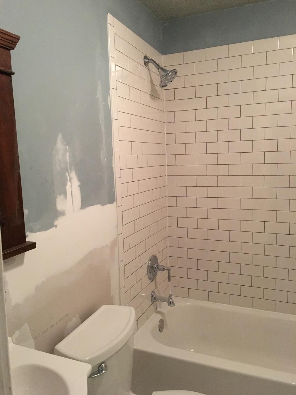 Bathroom Floor Tiles Uneven Cleaning Slate Tile Enter Image - Unlevel basement floor