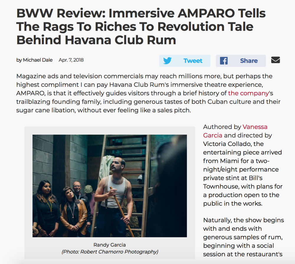 """AMPARO"" - BROADWAY WORLD"