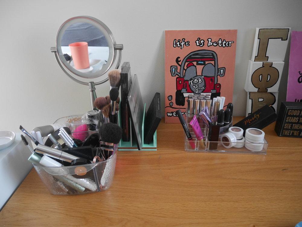 A closer look at my makeup spot!