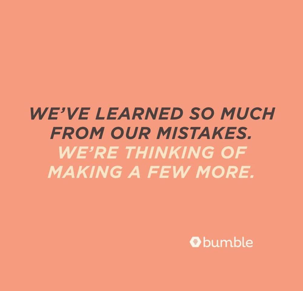 vía Bumble's Instagram