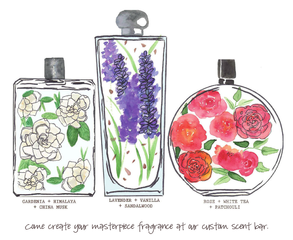 Come Create Your   Fragrance Masterpiece    Custom Scent Bar
