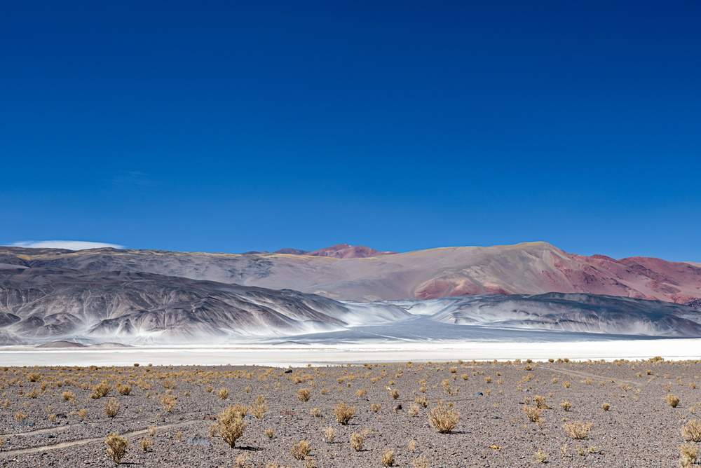 Vega Colorada across the Salar de Antofalla