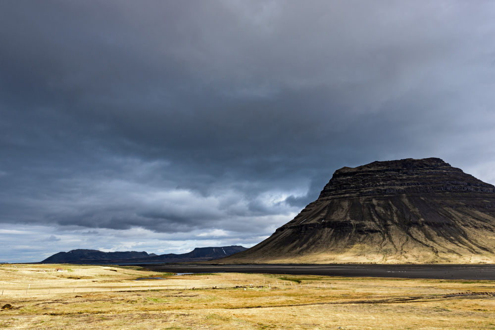 Incoming storm at Kirkjufell