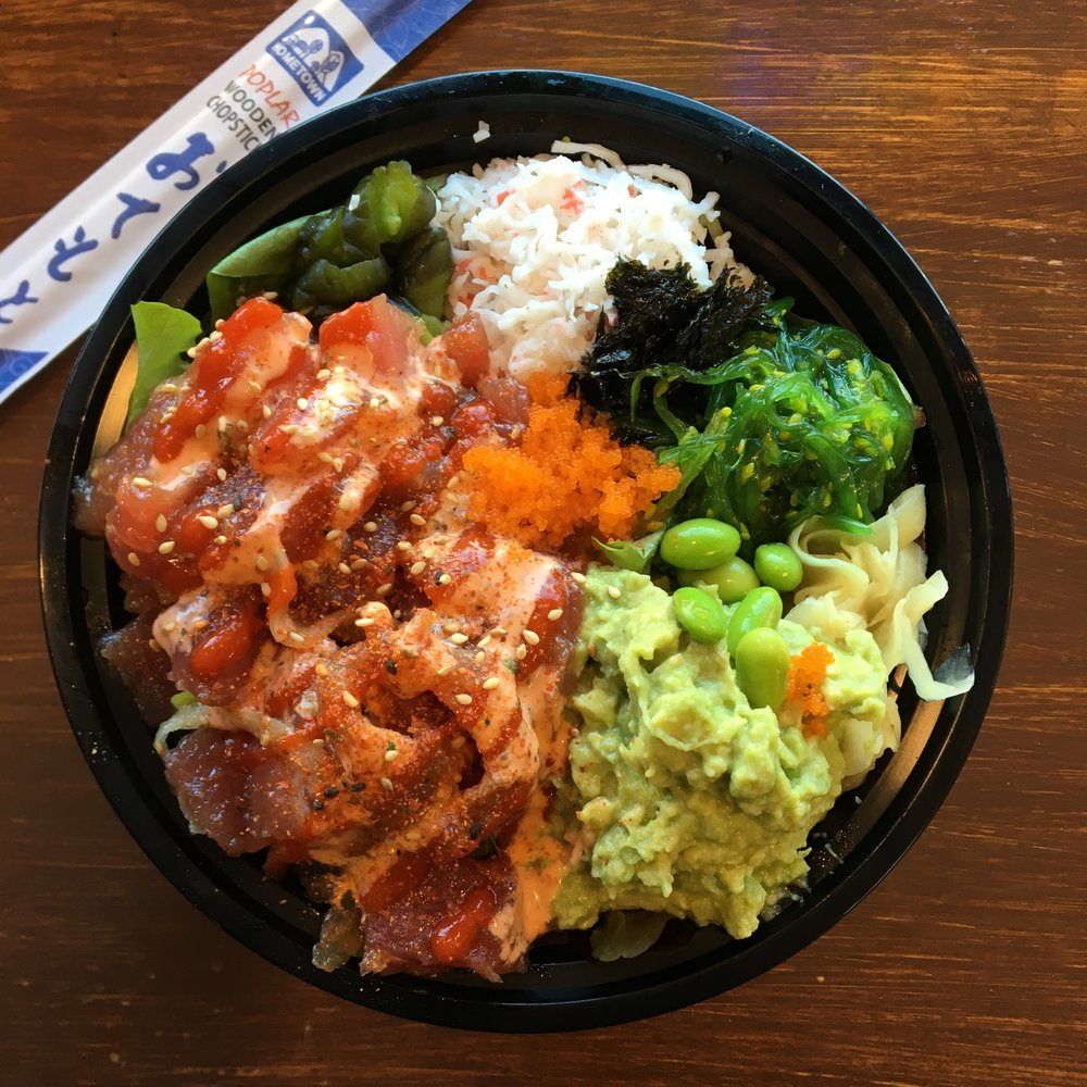 Tuna Poke Bowl at 45th Stop N Shop and Poke Bar