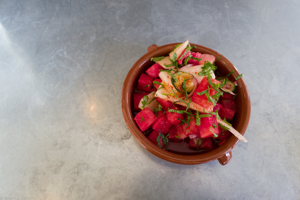 Watermelon Salad at Copal.