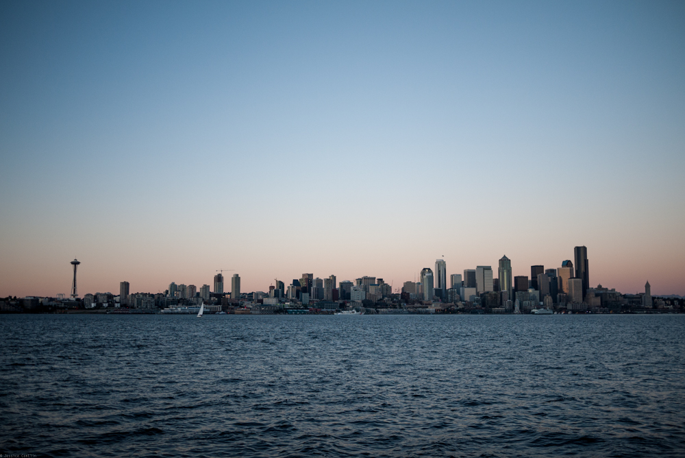 Elliot Bay view of the Seattle Skyline