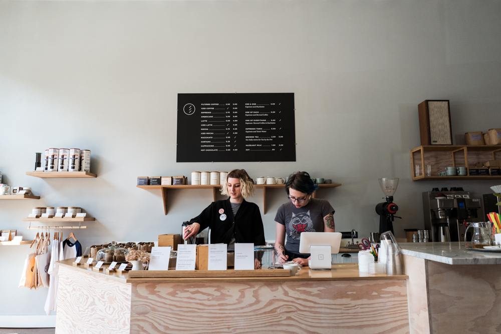 Barristas at Elm Coffee Roasters