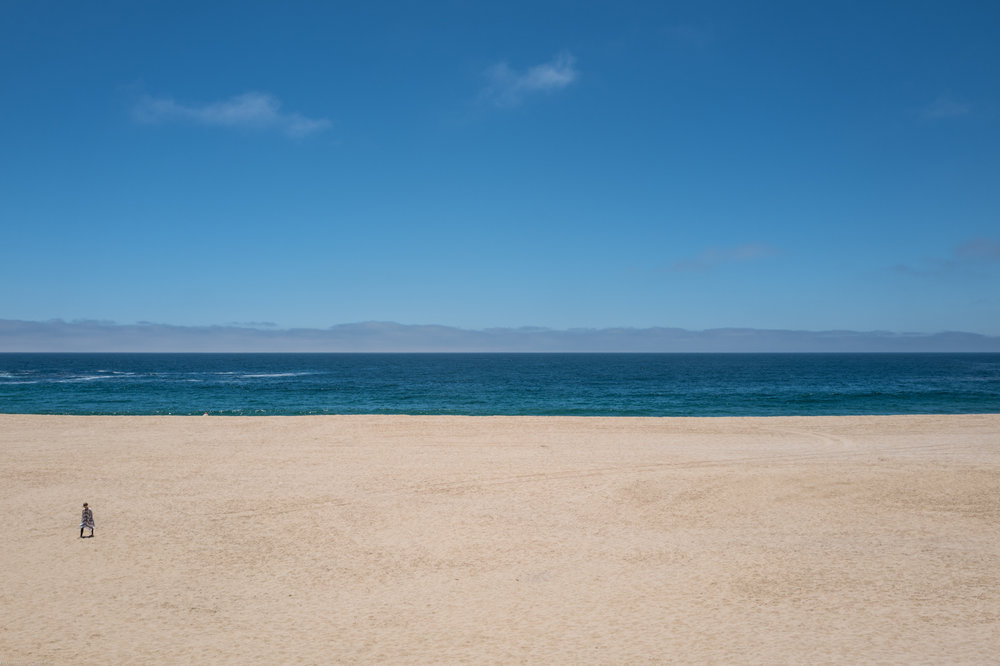 Endless white sand at Punta Lobos Beach outside Todos Santos