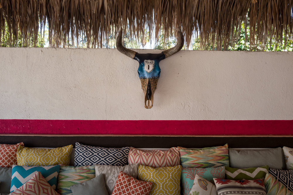 Lounging under the palapa at La Bohemia